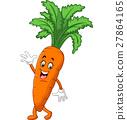 Happy carrot cartoon 27864165