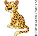 cartoon cheetah vector 27864172