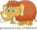 Cute mammoth cartoon 27864343