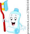 卡通 牙刷 牙膏 27864344