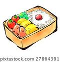 bento, box lunch, illustration 27864391