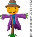 Cartoon scarecrow character 27864682