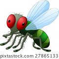 Cute little cartoon flies 27865133