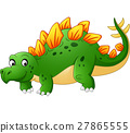 Cute stegosaurus cartoon 27865555