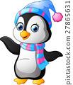 penguin, vector, cartoon 27865631