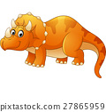 cartoon, triceratops, dinosaur 27865959