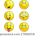 Illustration of emoticon set 27866058