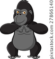 Strong gorilla cartoon 27866140