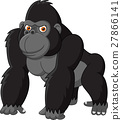 Funny gorilla isolated on white background 27866141