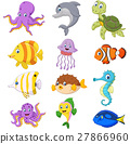 Cartoon sea life collection 27866960