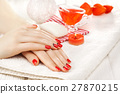 manicure, red, nail 27870215