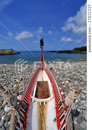 蔚藍海岸 漁船 沙灘 27872337