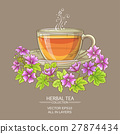 malva, cup, tea 27874434