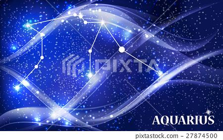 Symbol Aquarius Zodiac Sign Vector Illustration Stock