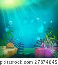 Funny Submarine Ocean Landscape 27874845