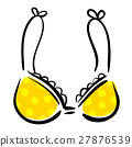Yellow brassiere drawing ink sketch 27876539