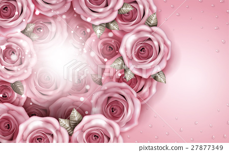 Romantic roses bouquet background 27877349