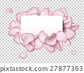 Petals with blank paper 27877363
