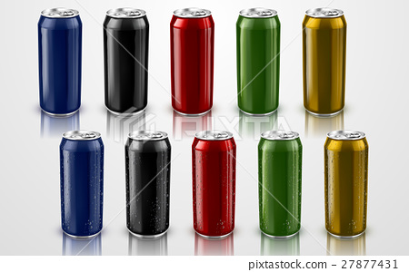 colorful metal cans 27877431