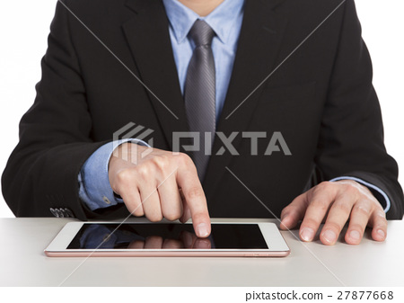 businessman using tablet 27877668
