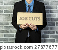 man holding job cuts brand 27877677