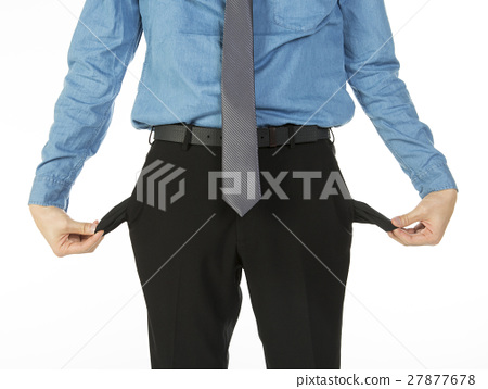 man with empty pockets 27877678