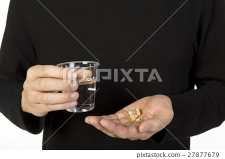 medicine in hands 27877679