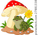 Cute frog with mushrooms 27881338