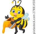 Cute bee holding honey 27881450