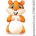 Cartoon smiling hamster 27881605