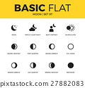 Basic set of moon icons 27882083