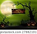 Halloween background with pumpkins 27882101