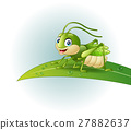 grasshopper, cartoon, insect 27882637