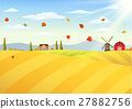 Farm landscape at autumn 27882756