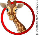 Cartoon giraffe mascot 27882791