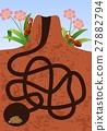 Cartoon ants colony 27882794