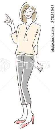 point, female, lady 27883948
