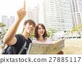 微笑 地图 夫妇 27885117