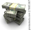money, dollar, stack 27885387