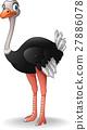 Cute ostrich cartoon 27886078
