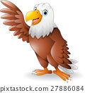 Cartoon eagle presenting 27886084
