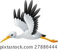 Cartoon stork flying 27886444