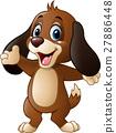 Cute dog presenting 27886448