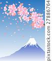 樱花和富士山 27886764