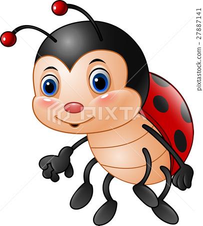 Cartoon funny ladybug 27887141