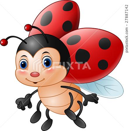 Cartoon funny ladybug 27887142