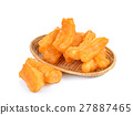 deep fried dough stick  on white background 27887465