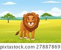 Cartoon lion character 27887869