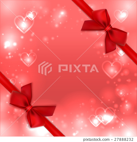 Valentines heart background, love card. Greeting 27888232
