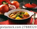 Hungarian soup goulash (bograch) with dumplings. 27888320